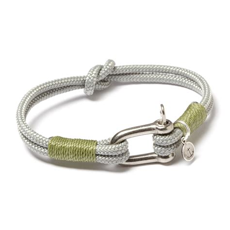 Stainless Steel D Shackle Cuff // Grey   Sage   JLK   Touch of Modern