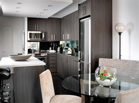 Modern Condo Kitchen Design Contemporary Condo Contemporary Kitchen Other By Toronto Interior Design Yanic