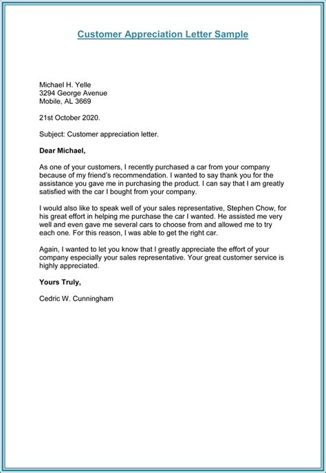 Thank You Letter Template To Customer Customer Thank You Letter 5 Plus Sle Letter Templates