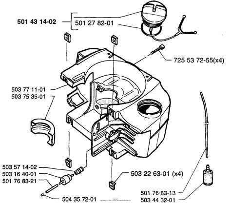 husqvarna     parts diagram  fuel tank
