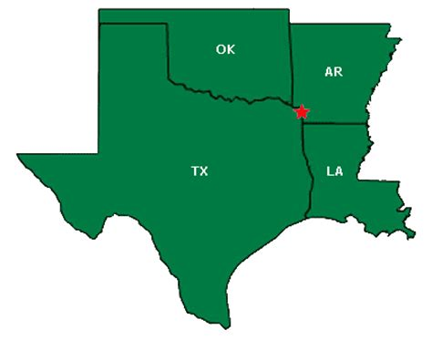 arkansas texas map map of texas arkansas oklahoma and louisiana map
