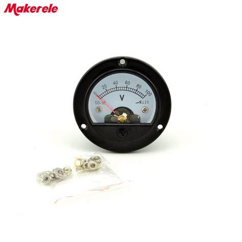 Voltmeter Analog ac 0 100v analog voltmeter analog panel volt meter voltage