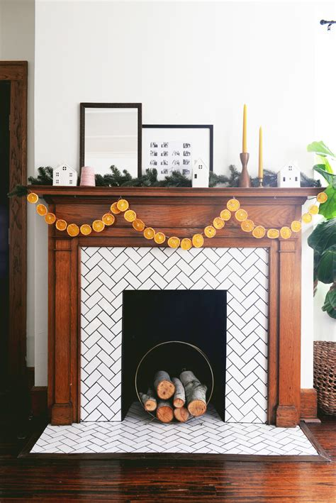 How To Hang Garland On Fireplace by How To Keep Garland On Fireplace Fireplaces