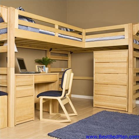 bunk bed with desk plans woodwork loft bed build plans pdf plans
