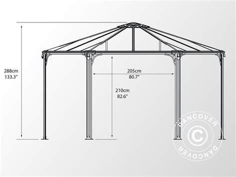 Pavillon 5x4 by Pavillon Monaco 4 5x4 5m Dancovershop Dk