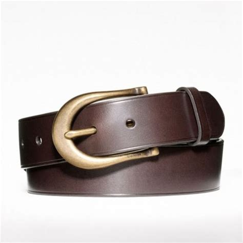 couch belts coach bleecker jeans belt in brown for men mahogany lyst