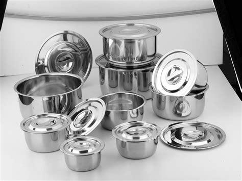 Pot Tawon No 30 5pcs stainless steel indian pot stock pot view indian pot