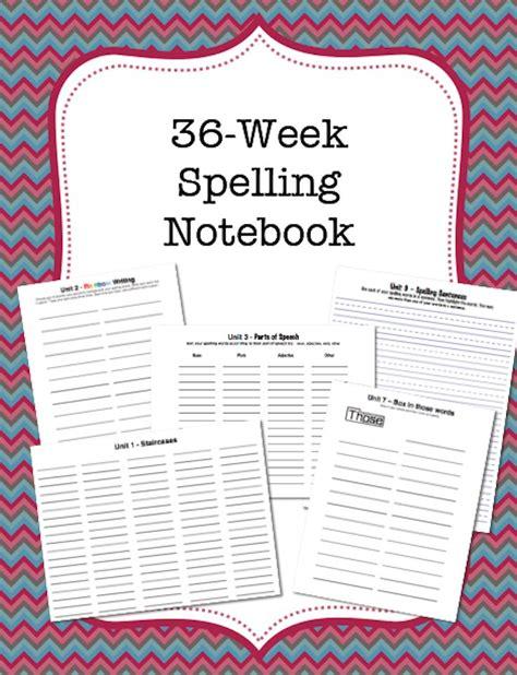 Printable Spelling Journal | 36 week spelling practice journal activities language