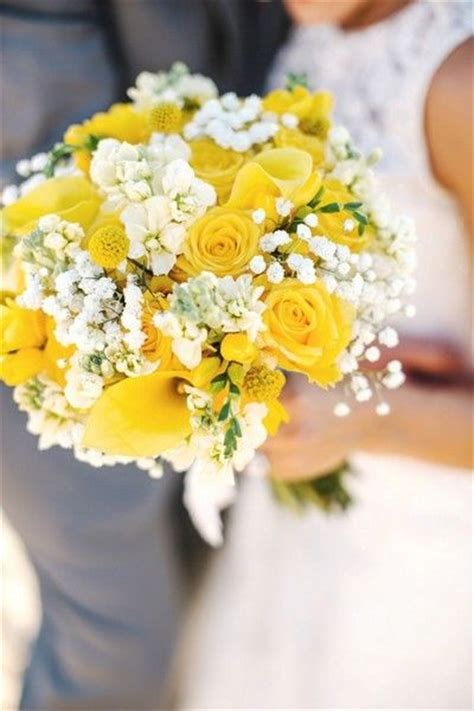 Wedding Bouquet Yellow by Best 25 Yellow Wedding Dresses Ideas On