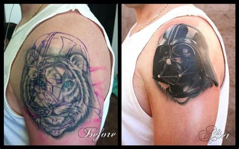 star tattoo cover up wars darth vader cover up by jeff norton tattoos