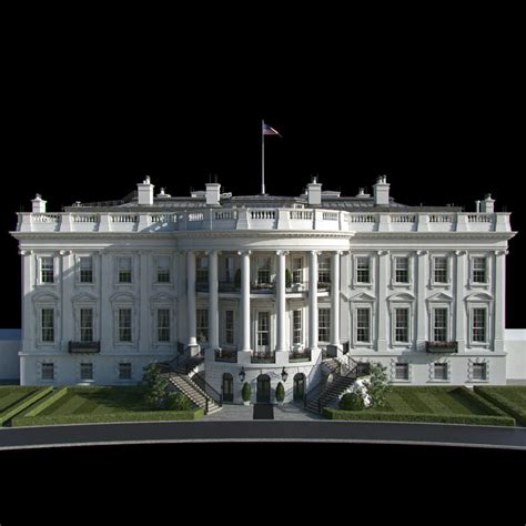White House 3d Model 3d model washington white house