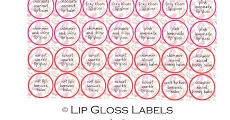 printable glossy labels lip gloss diy and printable labels lip gloss lips and