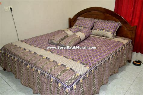 Sprei Batik Jumputan Motif Moderen Harga Murah 2 sprei batik motif kawung rumbai