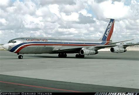 lan chile cargo boeing 707 331c cc cer at miami international circa 1990 photo gerard helmer