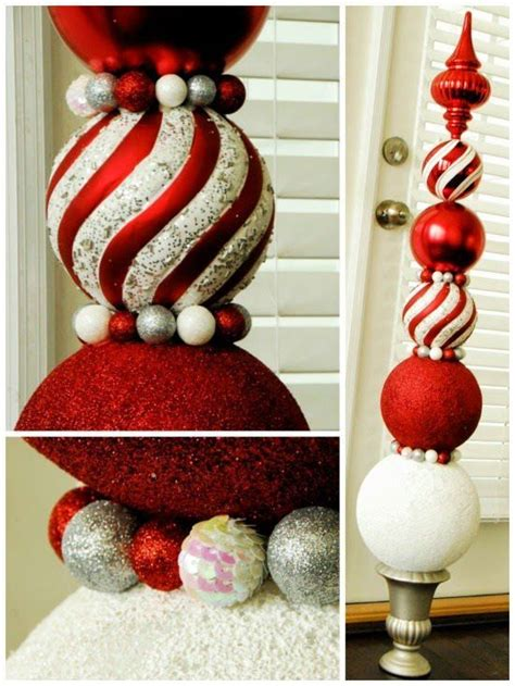 outdoor christmas topiary ideas ornament topiary tutorial sweet haute decor crafts idea diy project