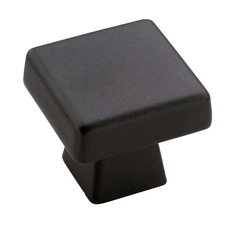 amerock square cabinet knobs blackrock 1 3 16 in 30 mm lgth cabinet knob black