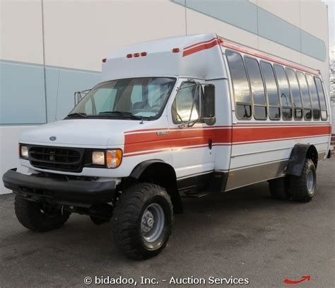 Ford E350 Econoline Off road 4x4 21 Passenger Shuttle Van Bus Diesel V8 7.3l   Used for sale in