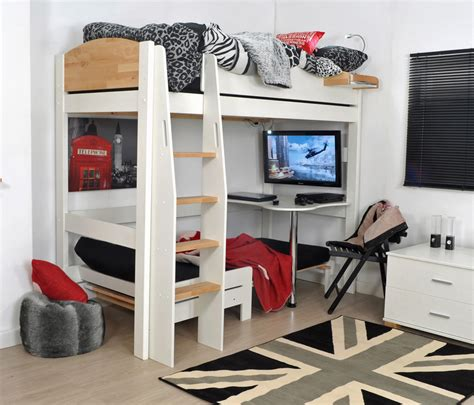 bed frame with desk mid sleeper bed frame with desk home delightful