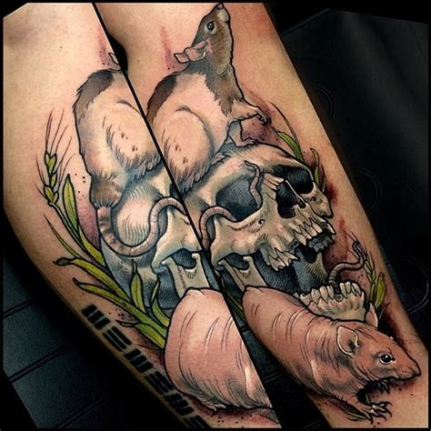 black rat tattoo 20 rat designs and images