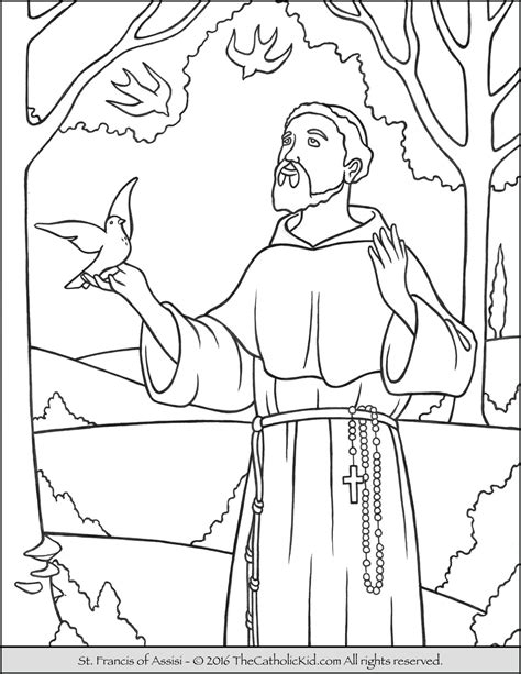 st coloring pages francis coloring page