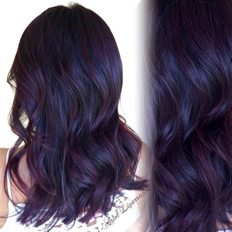 black people with purple hair save money with online coupon code all over color dark blackberry red new cut styled