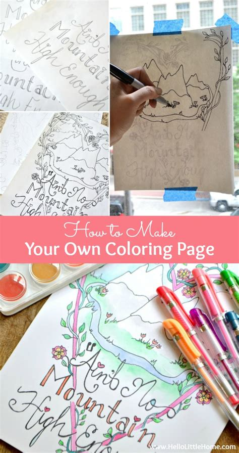 trendy learn how to make your own coloring page follow my