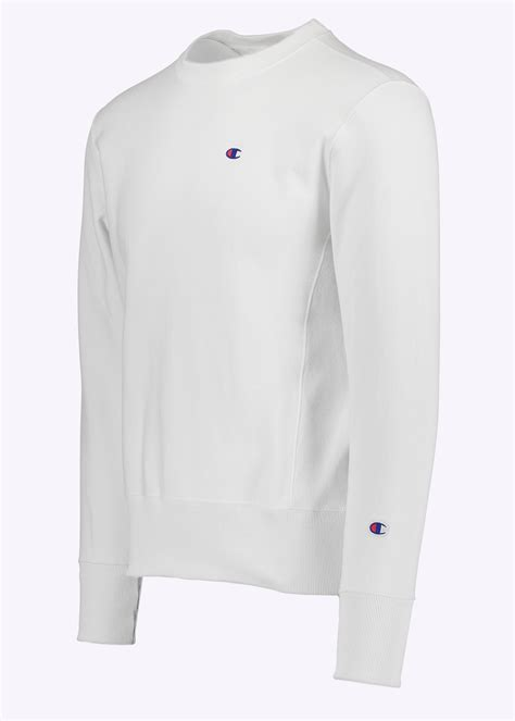 White Crewneck White chion crewneck sweatshirt white chion from triads uk