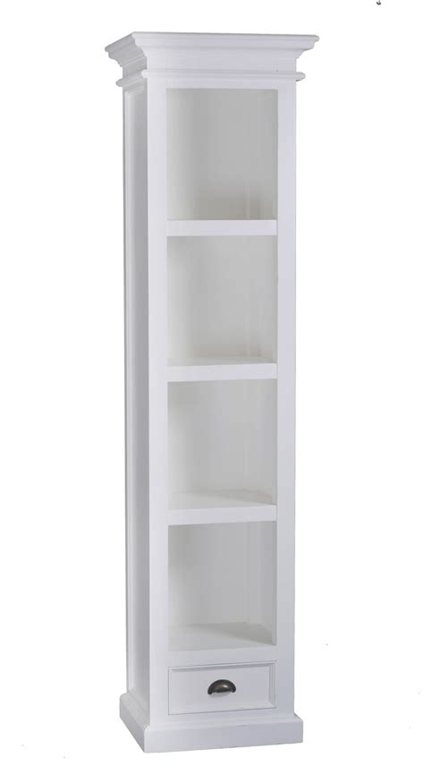 Tall White Bookcase Home Depot Bookcases Doherty House White Slim Bookcase