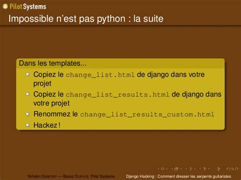 django hacking comment dresser les serpents guitaristes
