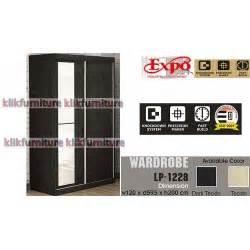 Lemari Pakaian 3 Pintu Expo Lp 2103 Walnut pusat furniture termurah terlengkap terbesar