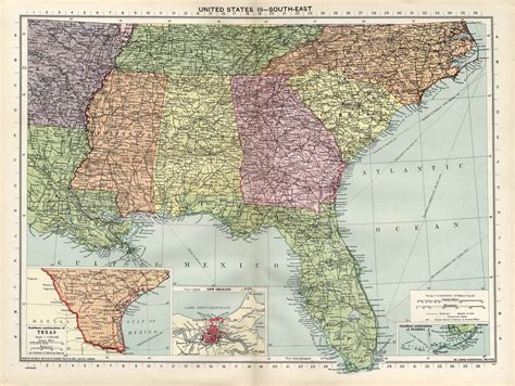 maps of southeast united states large 1940 philips map of southeastern united states