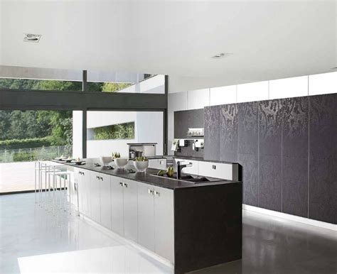 wallpaper on kitchen cabinets black white wallpaper look kitchen cabinets interior