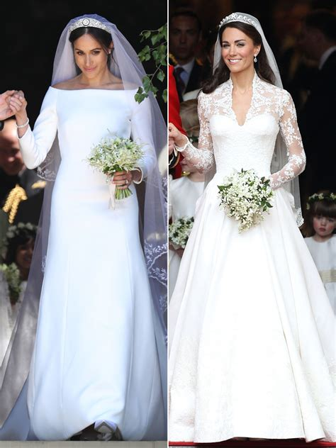 Royal Wedding Comparison by Meghan Markle Kate Middleton Royal Wedding Comparison
