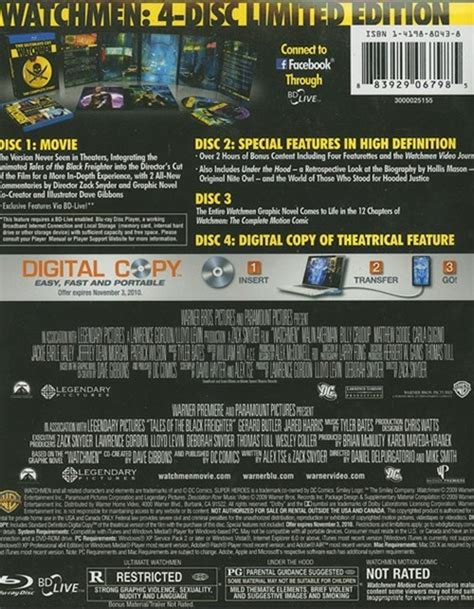 Watchmen The Ultimate Cut Dvd watchmen the ultimate cut 2009 dvd empire