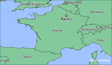 map reims where is reims where is reims located