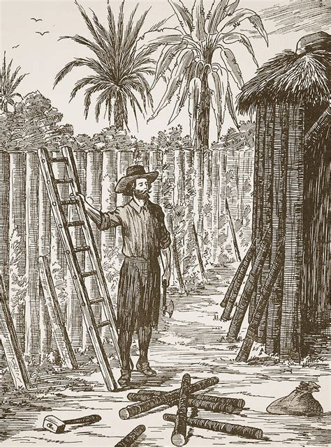 House Plans Online robinson crusoe building his bower painting by english school