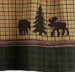 moose and bear shower curtain cabin rustic lodge shower curtains cabin 9 design