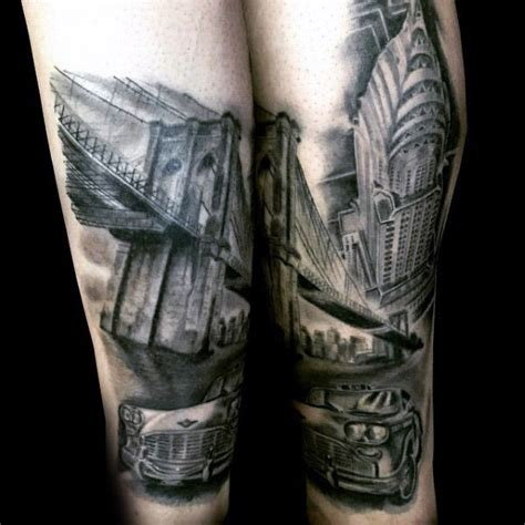 empire state building tattoo 60 bridge tattoos for new york city design