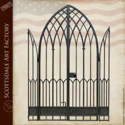 wrought iron arch gate gothic style