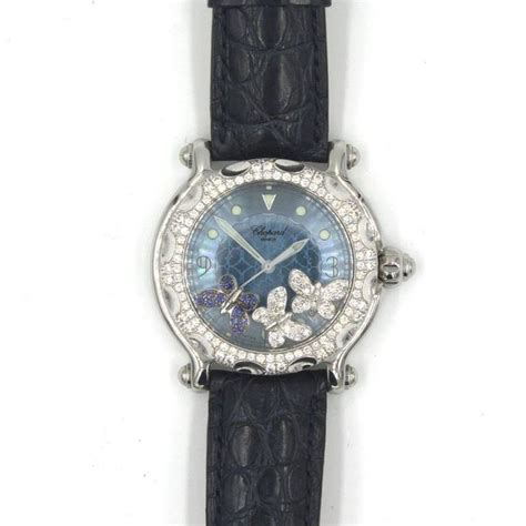 Chopard Buterfly Leather chopard happy sport floating butterfly quartz