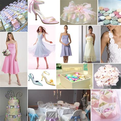 what pastel colors would look best for a wedding in