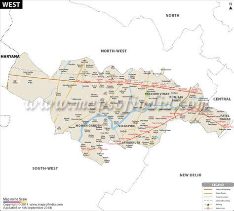 west delhi district map