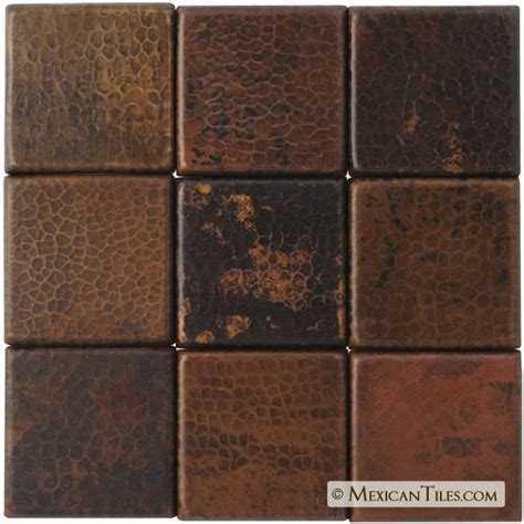 copper bathroom tiles mexican tile hammered copper tile antique finish http
