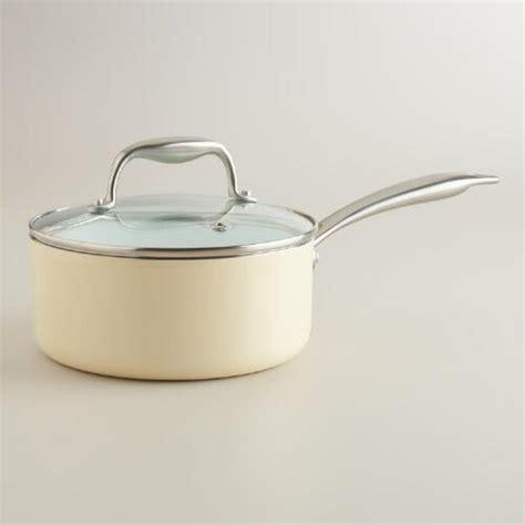 1 quart ceramic saucepan 2 quart ivory ceramic nonstick eco saucepan world market