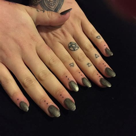 three dot tattoo 20 best three dots on finger images on