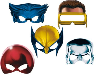 x men masks so you can be wolverine or cyclops or beast