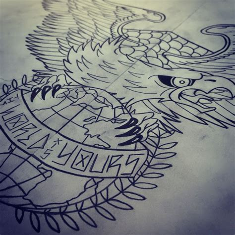 the world is yours tattoo design eagle the world is yours ideas