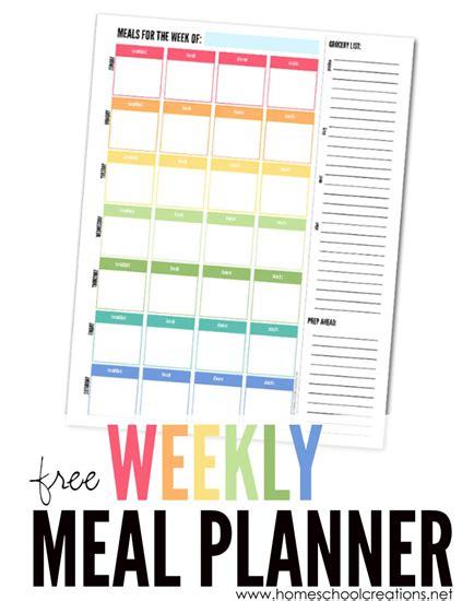 printable meal prep planner weekly meal planner plan a week s meals free printable