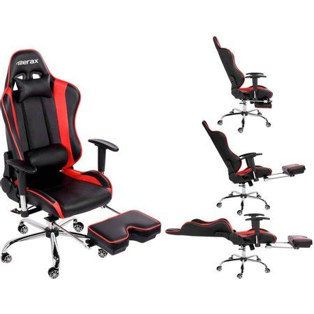 reclining gaming desk chair merax high back erogonomic racing style computer gaming