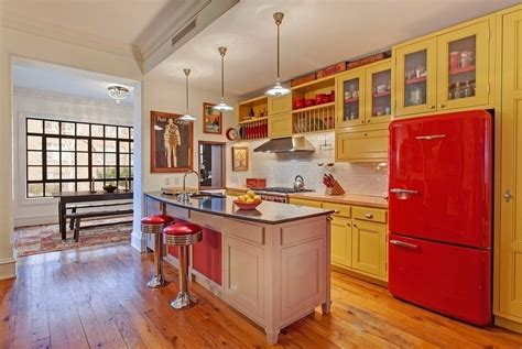 Red And Yellow Kitchen - red kitchen cabinets with yellow walls a lively energy in your cooking area with red kitchen